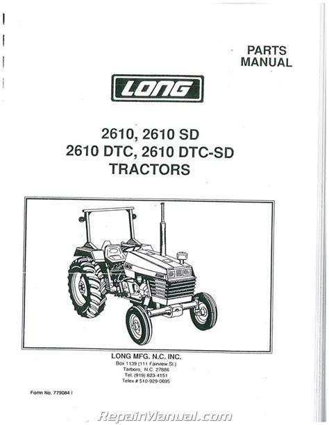Long Tractor Parts Manual
