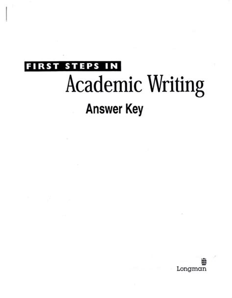 Longman Academic Writing Answer Key
