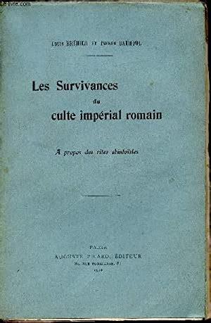 Louis Brehier Et Pierre Batiffol Les Survivances Du Culte Imperial Romain A Propos Des Rites Shintoistes