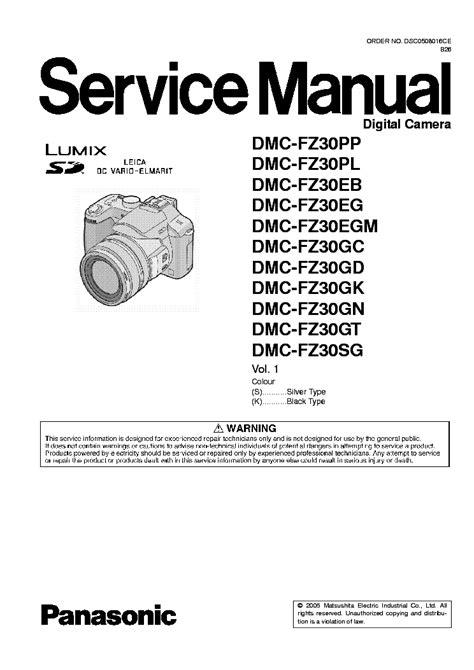 Lumix Dmc Fz30 Service Manual Repair Guide