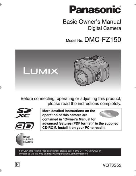 Lumix Fz150 User Manual