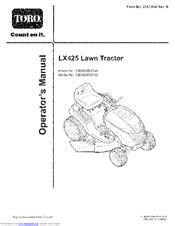 Lx425 Service Manual
