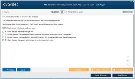 MB-210 Exam Sample