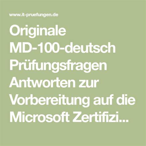 MD-100-Deutsch Deutsch Prüfungsfragen