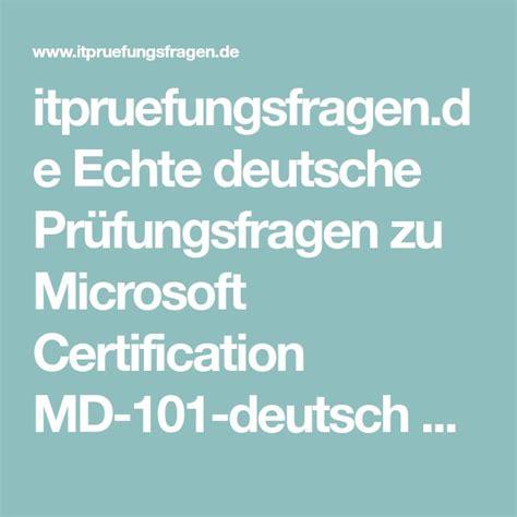 MD-101-Deutsch PDF Testsoftware