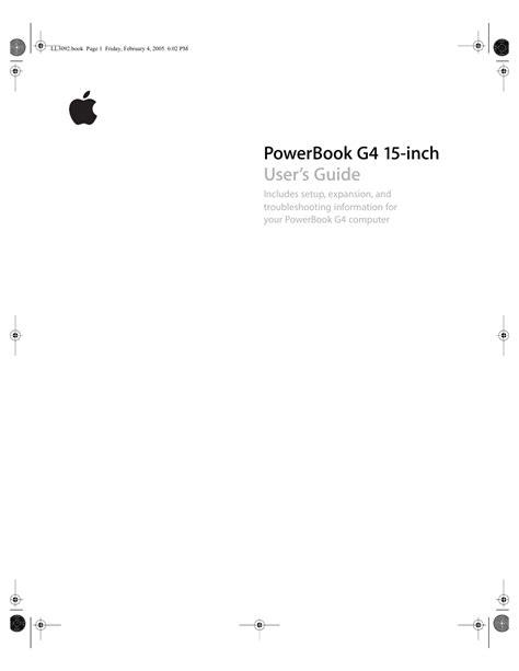 Mac Powerbook G4 Manual