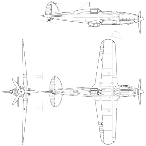 Macchi Mc 202 Top Drawings