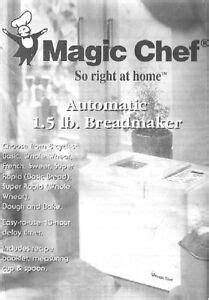 Magic Chef Breadmaker Cbm 250 Manual