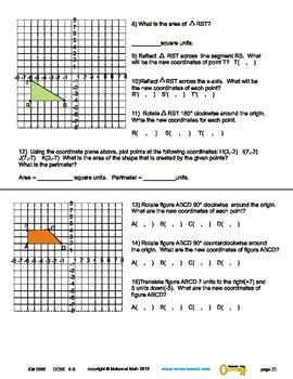 Maisonet Math 2012 Tranformation Answer Key