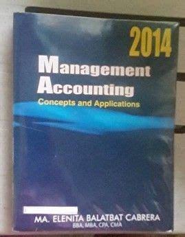 Management Accounting Cabrera Solutions Manual
