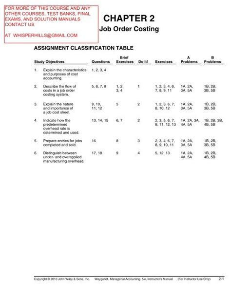 Managerial Accounting Tools For Business Decision Making 5th Edition Solution Manual