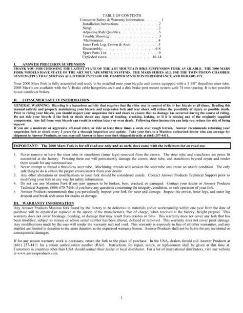 Manitou Mars Service Manual