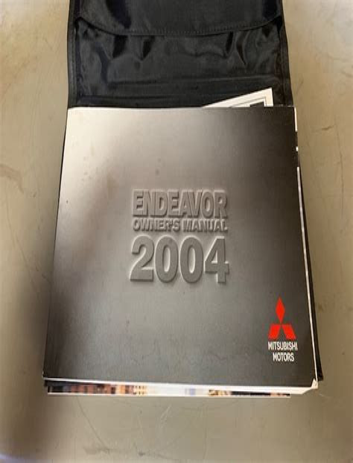 Manual 2004 Mitsubishi Endeavor User Manual