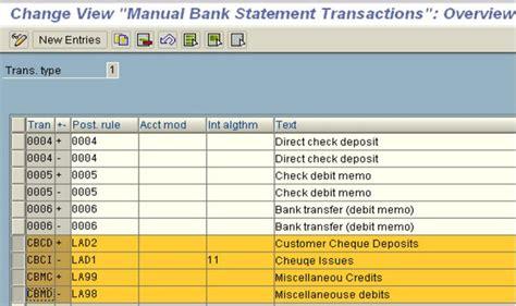 Manual Bank Statement