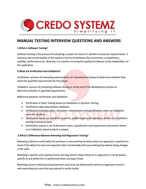 Manual Database Testing Interview Questions