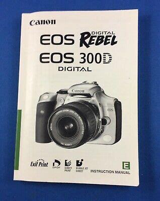 Manual De Canon Eos Rebel Ti Espanol
