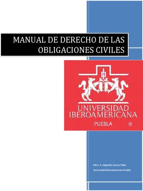Manual De Derecho De Las Obligaciones Civiles