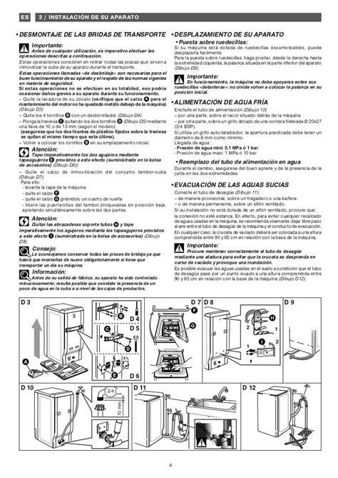 Manual De Instrucciones De Lavadora Fagor Innova Ft 311