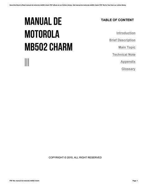 Manual De Motorola Mb502
