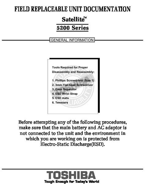 Manual De Servicio Laptop Toshiba Satellite