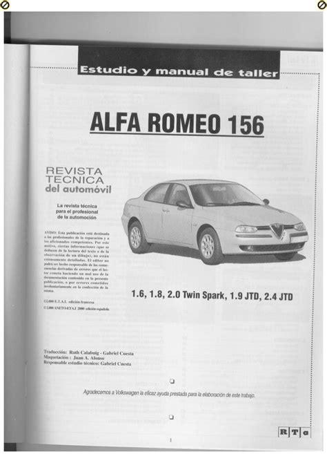 Manual De Taller Alfa Romeo 156 Jtd