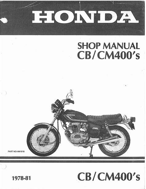 Manual For Honda Cm400 1981