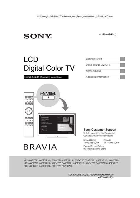 Manual For Sony Bravia Lcd Tv