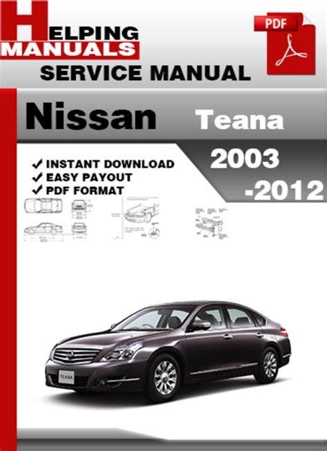 Manual Guide Nissan Teana