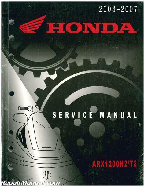 Manual Honda Aquatrax 1200 Ao 2006
