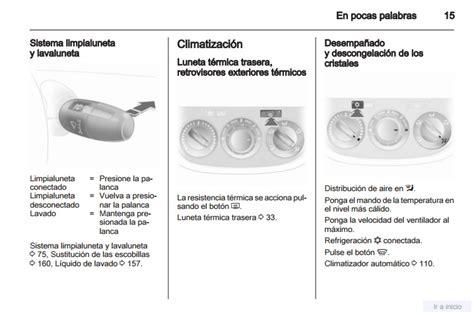 Manual Instrucciones Opel Corsa
