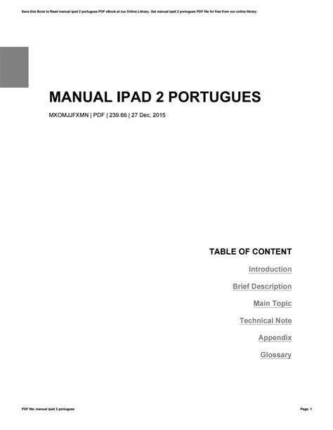 Manual Ipad2 Portugues