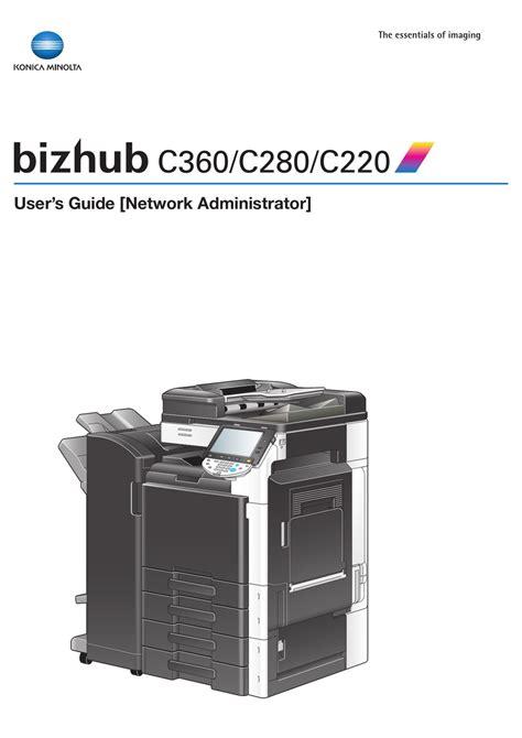 Manual Konica Bizhub C220