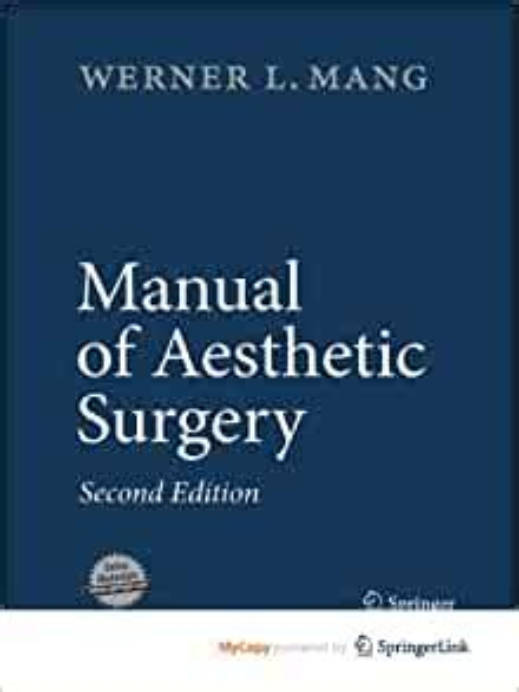 Manual Of Aesthetic Surgery Mang Werner