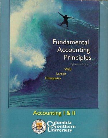 Manual Of Fundamental Accounting Principles 18 Edition