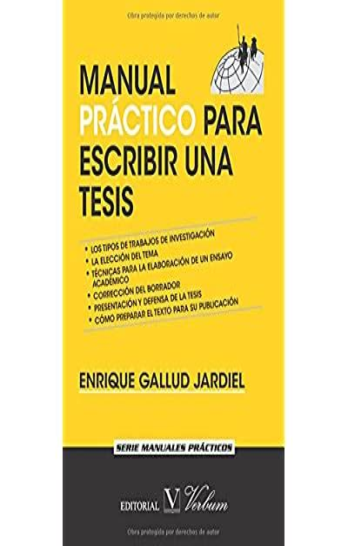 Manual Practico Para Escribir Una Tesis Coleccion Cervantes