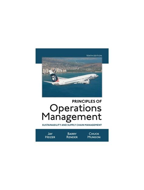 Manual Solutions For Operations Management Tenth Edition