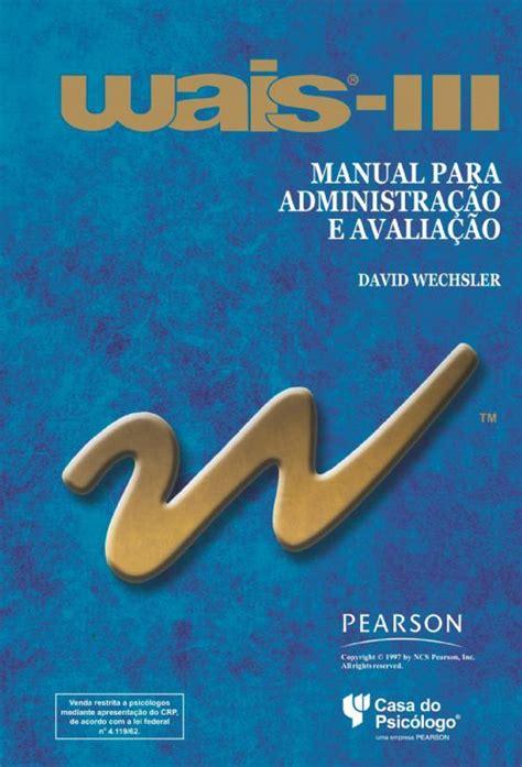 Manual Wais Iii