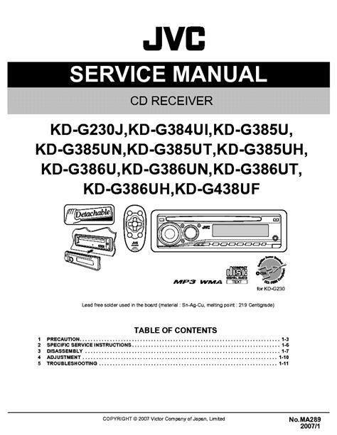 Manual Del Estereo Jvc Kd-G230 | For Ipod Guide