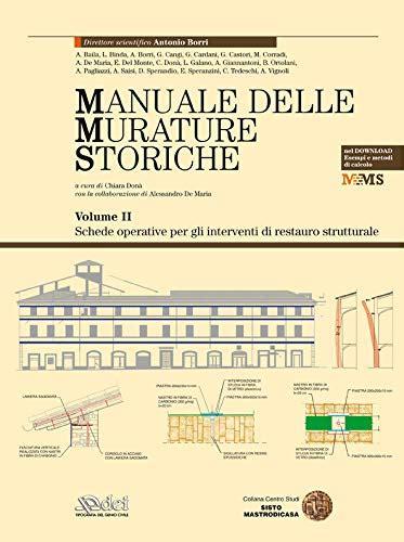 Manuale Delle Murature Storiche Analisi E Valutazione Del Comportamento Strutturale Schede Operative Per Gli Interventi Di Restauro Strutturale