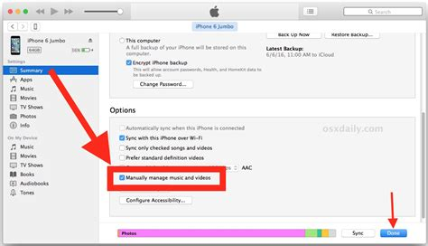 Manually Manage Music Itunes