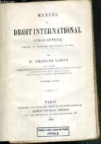 Manuel De Droit International Public Et Prive Conforme Au Programme Des Facultes De Droit 2eme Edition