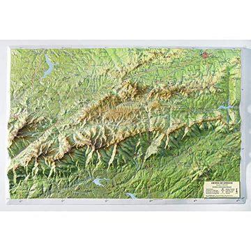 Mapa En Relieve Sierra De Gredos Escala 1 250 000