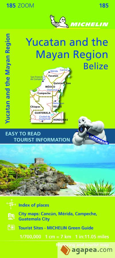 Mapa Zoom Yucatan Y Pais Maya Mapa Zoom Michelin