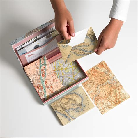 Maps Letter Wrting Set Briefpapier Set