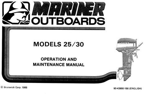 Mariner 25 Hk Manual