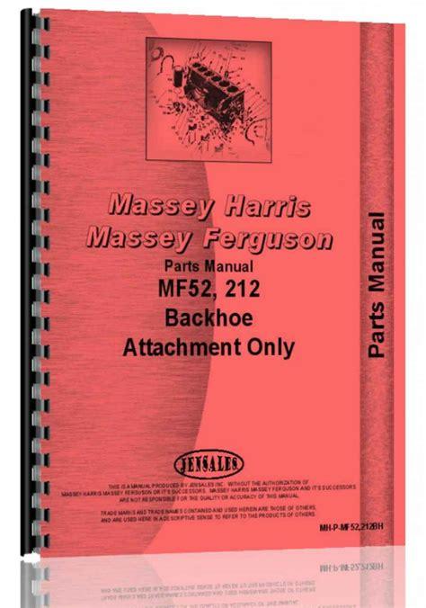 Massey Ferguson 212 Backhoe Attachment Manual