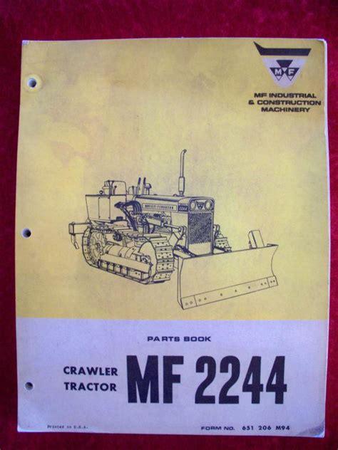 Massey Ferguson 2244 Crawler Parts Manual