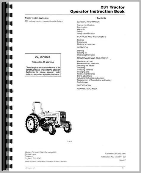 Massey Ferguson 231 Manual