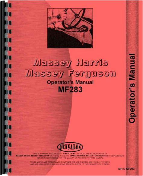 Massey Ferguson 283 Operator Manual