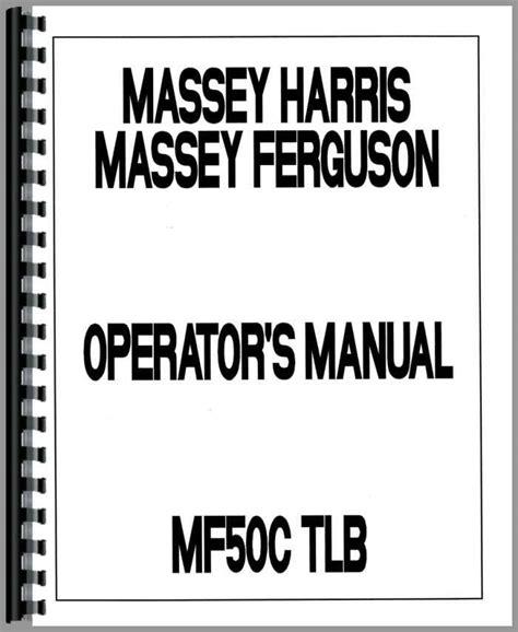 Massey Ferguson 50 H Tlb Repair Manual